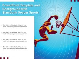 Powerpoint Template And Background With Slamdunk Soccer Sports