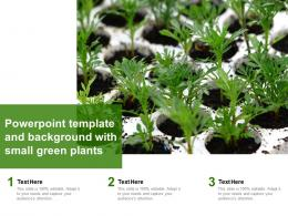Powerpoint Template And Background With Small Green Plants