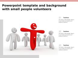 Powerpoint Template And Background With Small People Volunteers