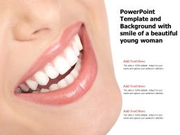 Powerpoint Template And Background With Smile Of A Beautiful Young Woman