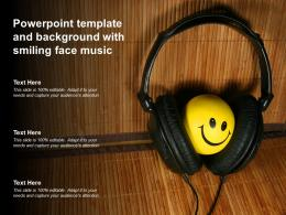 Powerpoint Template And Background With Smiling Face Music