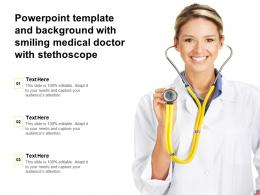 Powerpoint Template And Background With Smiling Medical Doctor With Stethoscope