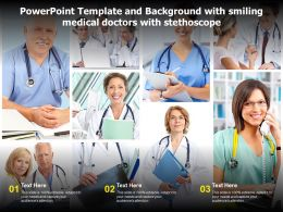 Powerpoint Template And Background With Smiling Medical Doctors With Stethoscope