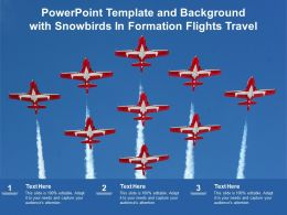 Powerpoint Template And Background With Snowbirds In Formation Flights Travel