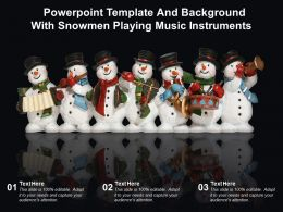 Powerpoint Template And Background With Snowmen Playing Music Instruments