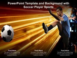 Powerpoint Template And Background With Soccer Player Sports