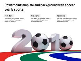 Powerpoint Template And Background With Soccer Yearly Sports