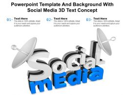 Powerpoint Template And Background With Social Media 3D Text Concept