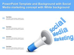 Powerpoint Template And Background With Social Media Marketing Concept With White Background