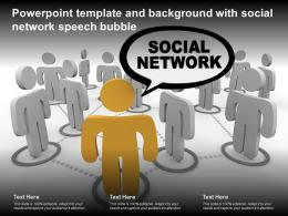 Powerpoint Template And Background With Social Network Speech Bubble