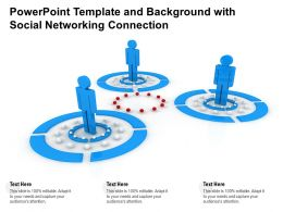 Powerpoint Template And Background With Social Networking Connection