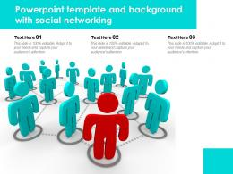 Powerpoint Template And Background With Social Networking