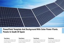 Powerpoint Template And Background With Solar Power Plants Panels In South Of Spain