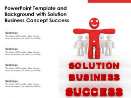 Powerpoint Template And Background With Solution Business Concept Success