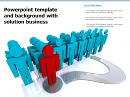 Powerpoint Template And Background With Solution Business