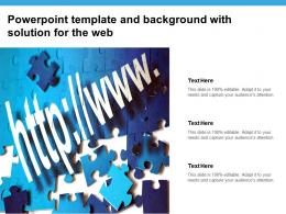 Powerpoint Template And Background With Solution For The Web