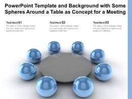 Powerpoint Template And Background With Some Spheres Around A Table As Concept For A Meeting