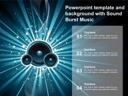 Powerpoint Template And Background With Sound Burst Music