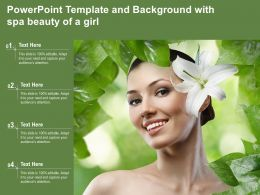 Powerpoint Template And Background With Spa Beauty Of A Girl