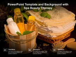 Powerpoint Template And Background With Spa Beauty Therapy