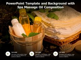 Powerpoint Template And Background With Spa Massage Oil Composition