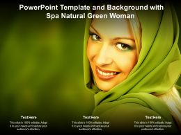 Powerpoint Template And Background With Spa Natural Green Woman
