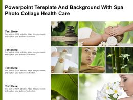 Powerpoint Template And Background With Spa Photo Collage Health Care