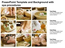 Powerpoint Template And Background With Spa Procedures