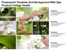 Powerpoint Template And Background With Spa Product Collage Health
