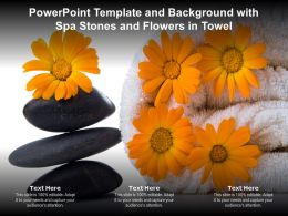 Powerpoint Template And Background With Spa Stones And Flowers In Towel