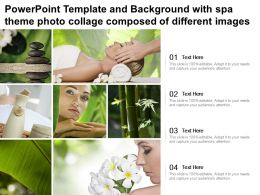 Powerpoint Template And Background With Spa Theme Photo Collage Composed Of Different Images