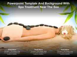 Powerpoint Template And Background With Spa Treatment Near The Sea