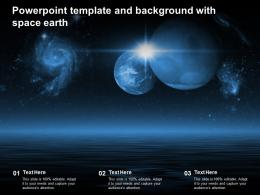 Powerpoint Template And Background With Space Earth