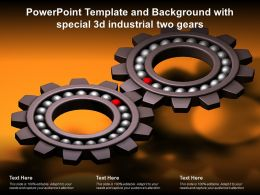Powerpoint Template And Background With Special 3d Industrial Two Gears
