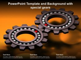 Powerpoint Template And Background With Special Gears
