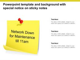 Powerpoint Template And Background With Special Notice On Sticky Notes