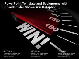 Powerpoint Template And Background With Speedometer Shows Win Metaphor