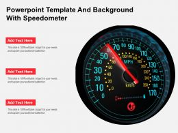 Powerpoint Template And Background With Speedometer