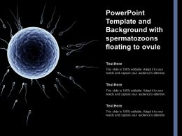 Powerpoint Template And Background With Spermatozoons Floating To Ovule