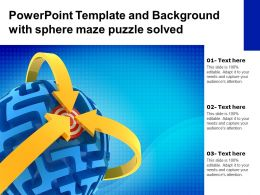 Powerpoint Template And Background With Sphere Maze Puzzle Solved