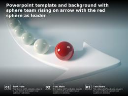 Powerpoint Template And Background With Sphere Team Rising On Arrow With The Red Sphere As Leader