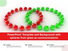 Powerpoint Template And Background With Spheres From Glass As Communications