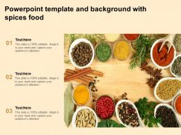 Powerpoint Template And Background With Spices Food