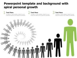 Powerpoint Template And Background With Spiral Personal Growth