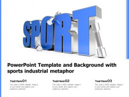 Powerpoint Template And Background With Sports Industrial Metaphor
