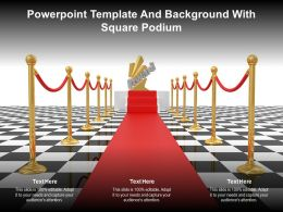 Powerpoint Template And Background With Square Podium