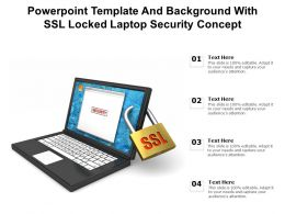 Powerpoint Template And Background With SSL Locked Laptop Security Concept