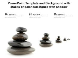Powerpoint Template And Background With Stacks Of Balanced Stones With Shadow