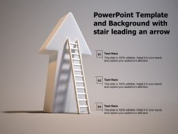 Powerpoint Template And Background With Stair Leading An Arrow