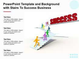 Powerpoint Template And Background With Stairs To Success Business